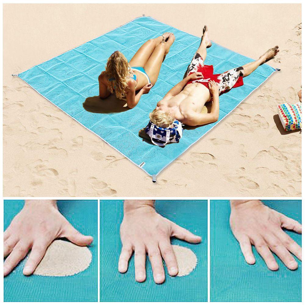 Solid Color Large Magic Sand Free Mat Beach Sandless Outdoor Travel Summer Camping Beach Towel Mat Waterproof Picnic Blanket