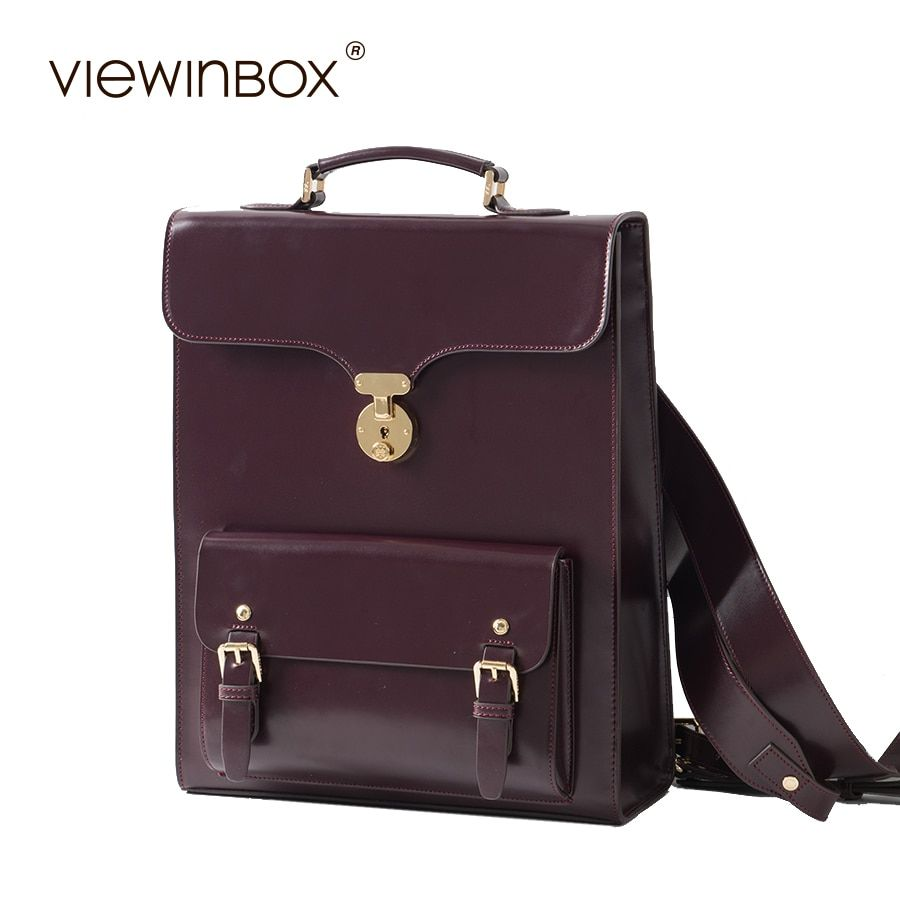 Viewinbox New Fashion Women Leather Backpack Split Cowhide Leather Backpacks Stylish for Lady