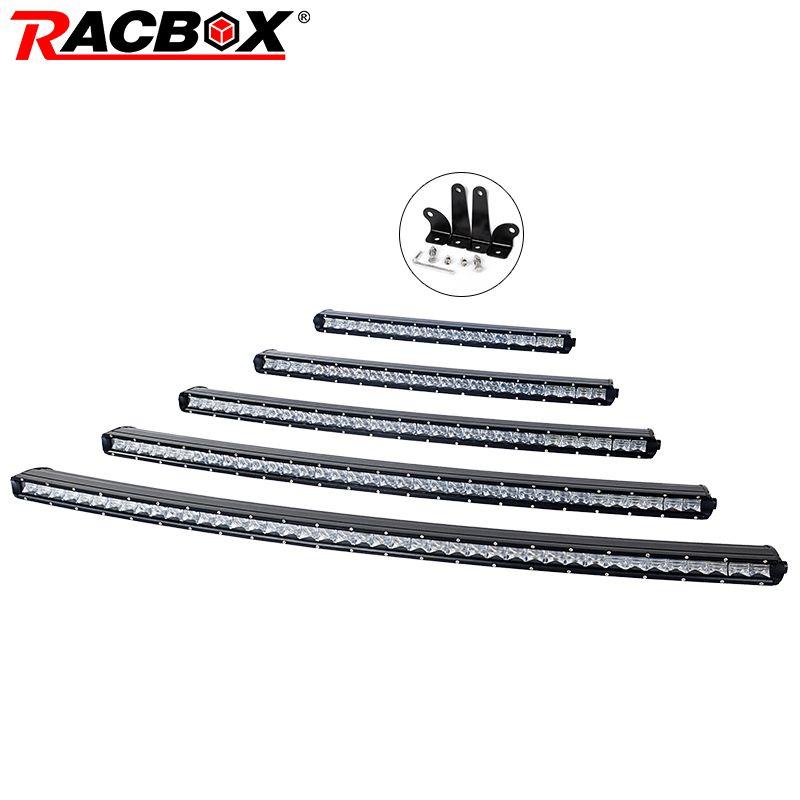 RACBOX 5D Curved Slim LED Light Bar Single Row 20