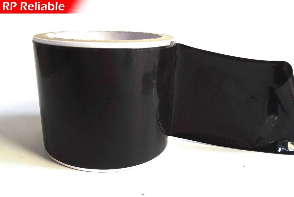 90mm de ancho, 100 metros, negro Alto Adhesivo PE Película Protectora para Marco de Puerta De Aluminio Y Ventanas Frosting Superficie Proteger Adhesiva,