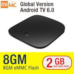 D'origine Xiaomi MI TV BOX 3 Smart 4 K Ultra HD 2G 8G Android 6.0 Film WIFI Google Fonte Netflix Rouge Bull Media Lecteur Set-top boîte