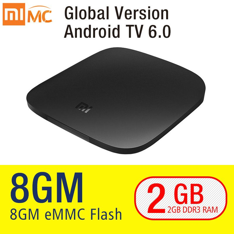 Original Xiaomi mi CAJA de la TV 3 Smart 4 K Ultra HD 2G 8G Android 6.0 Película WIFI Cast Google Netflix Red Bull Media Player Set-top caja
