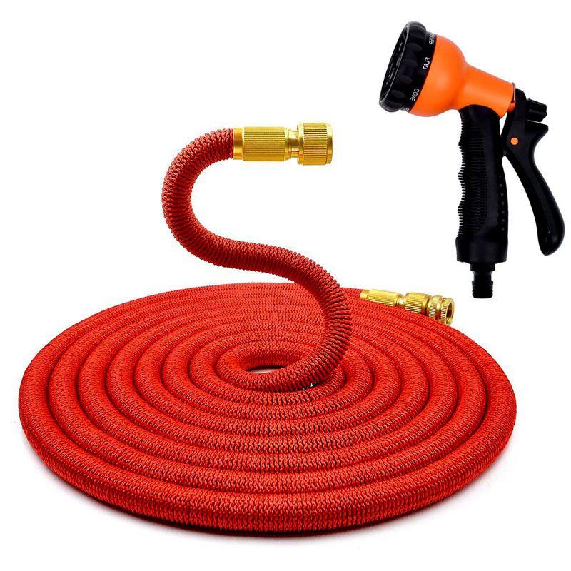 * 1 Set Multifunctional Expandable Garden Hose Water Hose With Sprayer EU US Latex Tube Magic Flexible Hoses 100FT