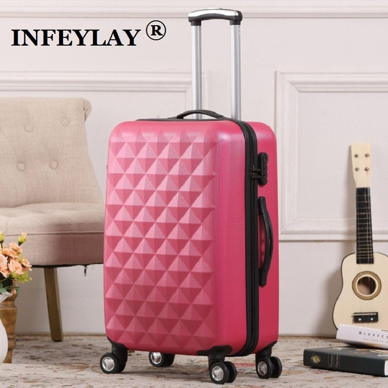20/24 inch ABS girl students fashion spinner trolley case child Travel luggage men rolling suitcase women business Boarding box