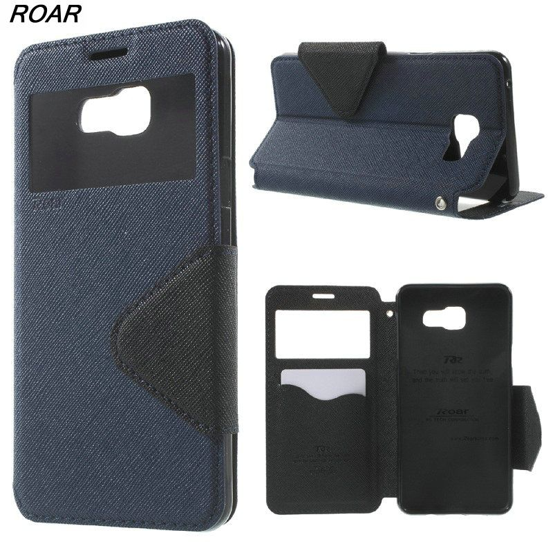 ROAR KOREA Case for Galaxy A 5 A510F (2016) Leather Bag Diary View Leather Cover for Samsung Galaxy A5 A510 SM-A510F (2016)