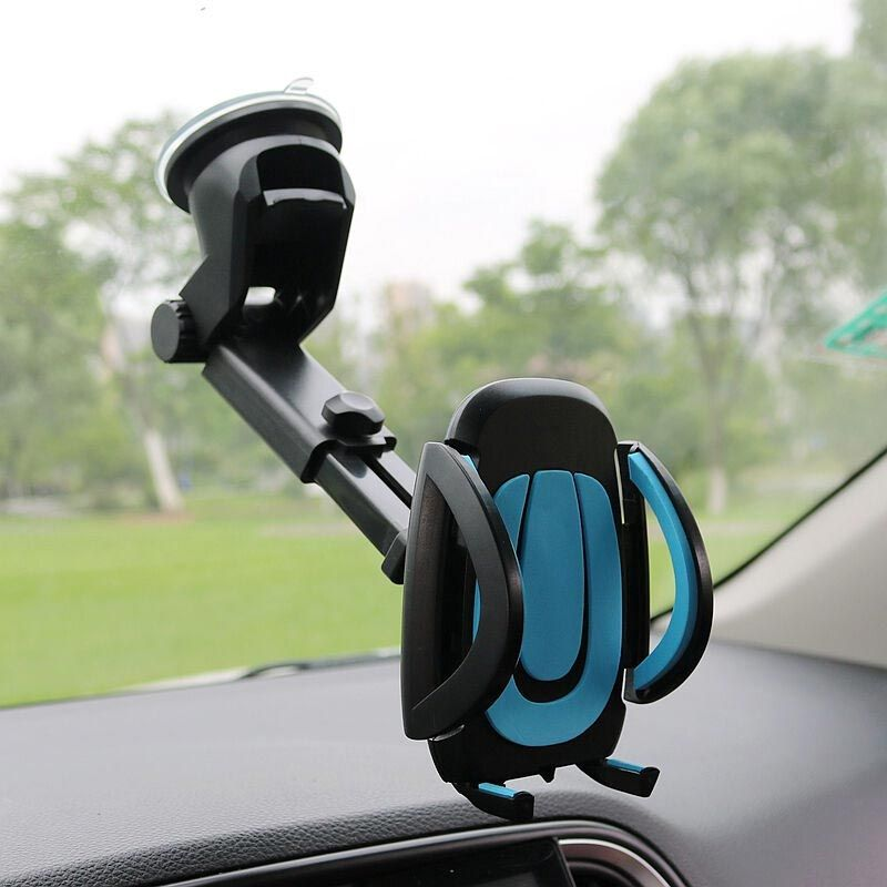 JEREFISH Car Phone Holder Gps Accessories Suction Cup Auto Dashboard Windshield Mobile Cell Phone Retractable Mount Stand