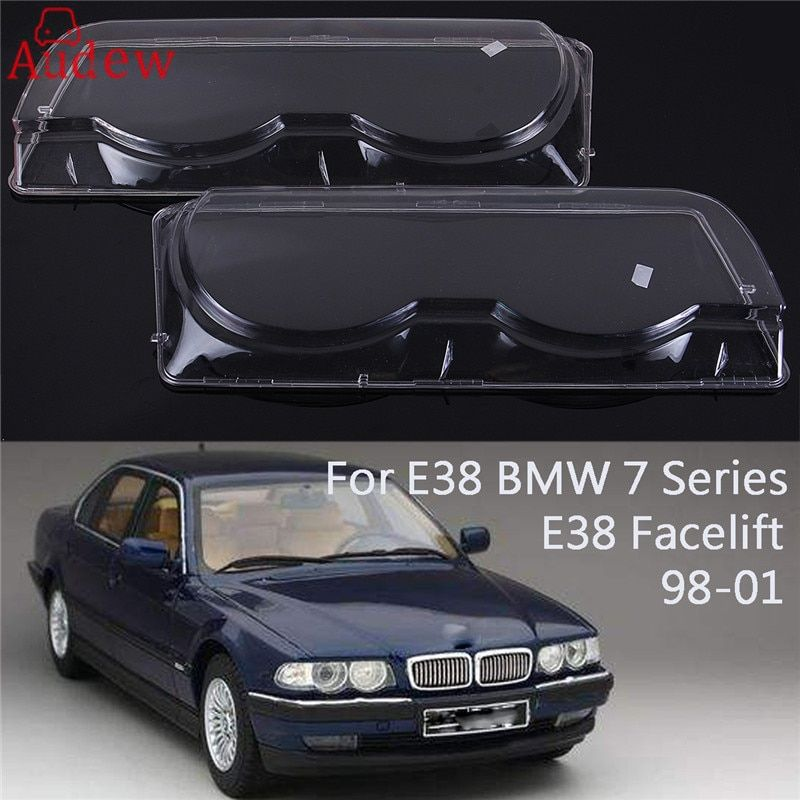 1Pcs Clear Right/Left Side Car Housing Headlight Lens Shell Cover Lamp Assembly for BMW 7 Series E38 Facelift 1998-2001