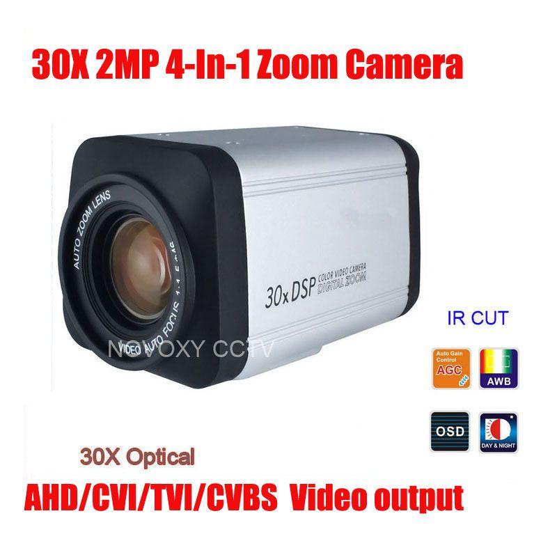 Free Shipping SONY IMX323 2MP 1080P AHD CVI TVI CVBS 4 In 1 30x Optical Zoom Camera Security Camera