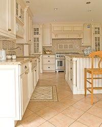 Белый кухонные шкафы из массива дуба