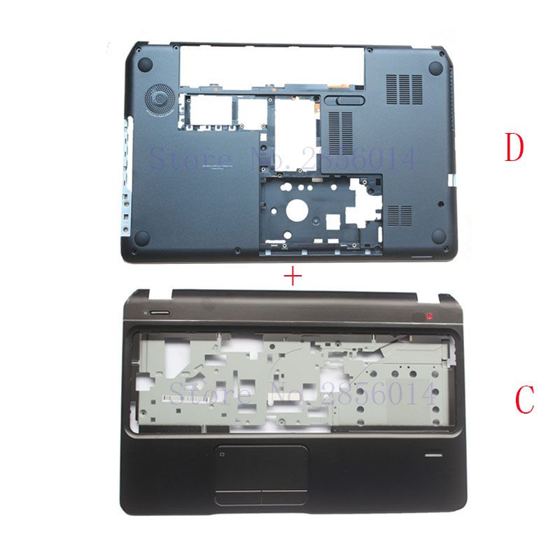 NEW Bottom Base Case Cover&Palmrest <font><b>upper</b></font> case cover for HP Envy Pavilion M6 M6-1000 707886-001 AP0U9000100