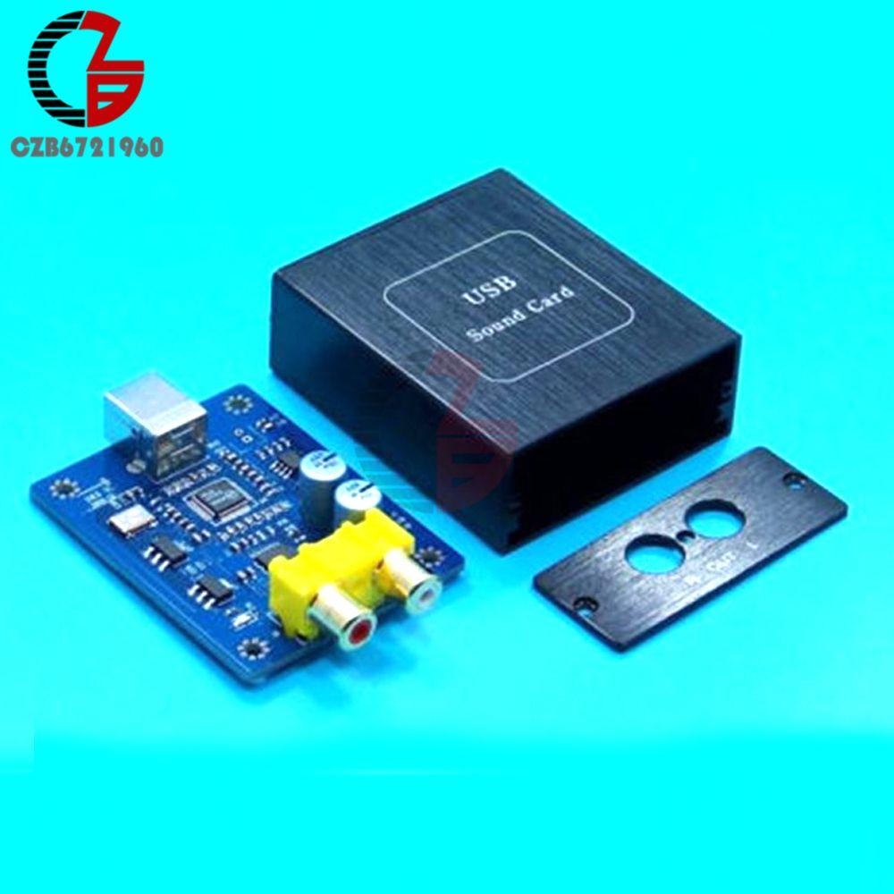 SA9227 + PCM5102A 32BIT 384KHZ DAC HIFI Asynchronous Decoder Board Audio Decoding Module DC 5V with Case for Mac OS Windows