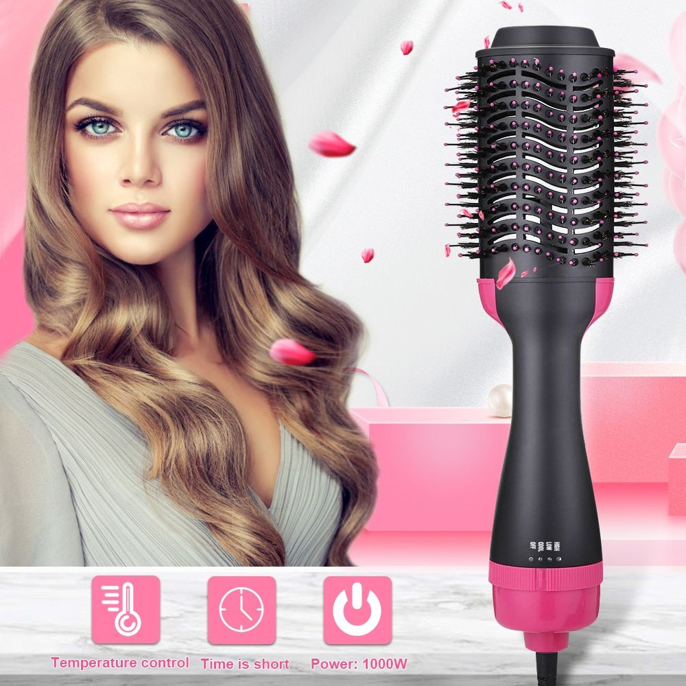 2 in 1 Electric Hair Brush Hair Dryer Volumizer Rotating Hair Brush Roller Rotate Styler hot comb straightener Curling Iron