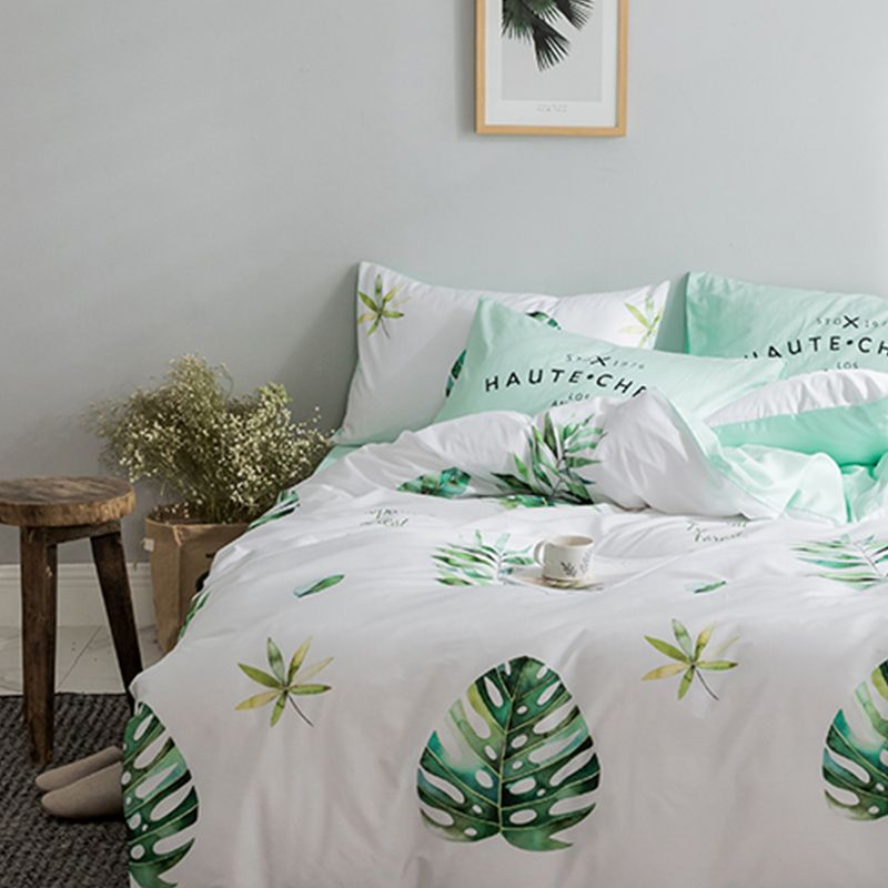 100% cotton bedding kit pure cotton and European small and fresh rural floral print bed with double 4pcs bedding set