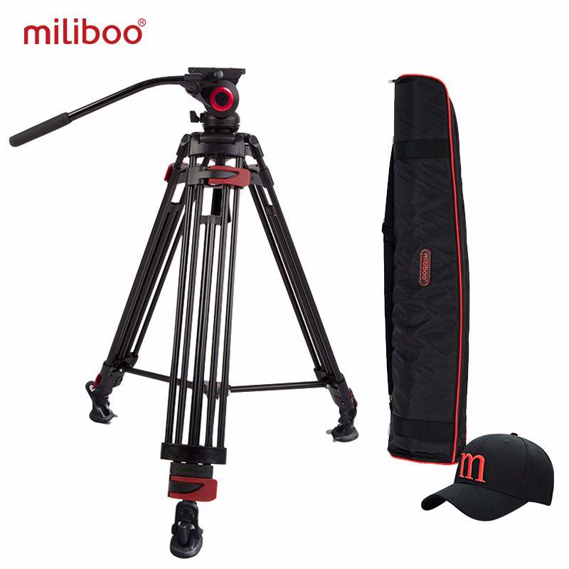 Miliboo tour de fer professionnel Portable trépied vidéo DSLR avec tête hydraulique/numérique DSLR caméra caméscope support trépied