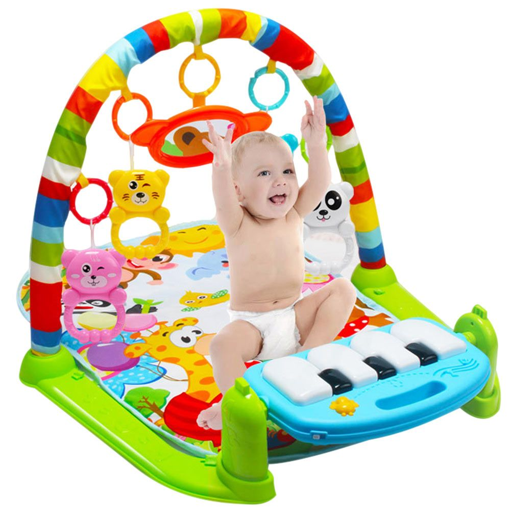 Kids Children Fitness Rack Baby Toys Piano Music Blanket Play Plastic Intellectual Development YH-17