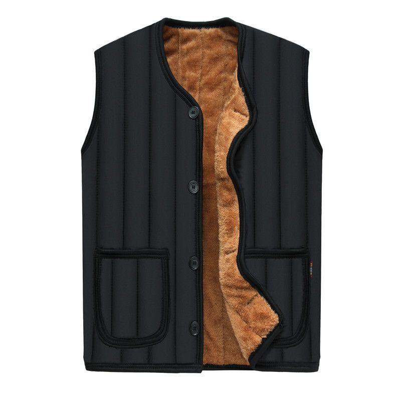 MarKyi 2017 fashion winter fleece vest coat for men good quality striped warm mens waistcoat vest size 4xl