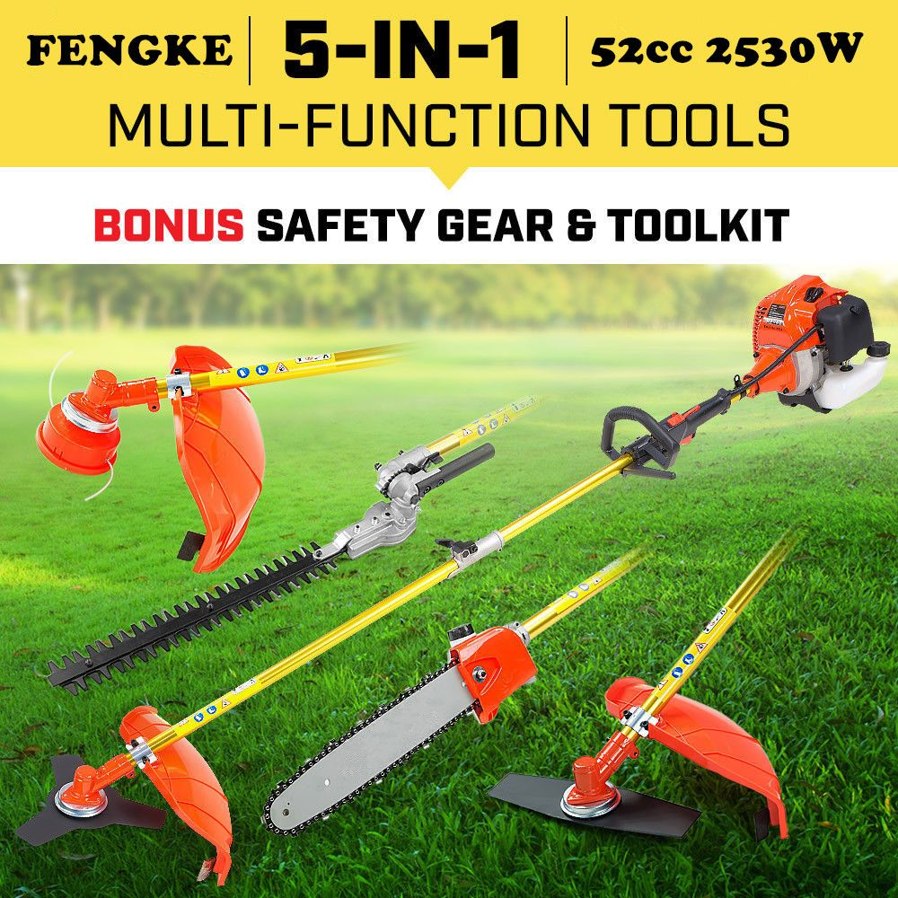 New PETROL POLE PRUNER WHIPPER SNIPPER BRUSH CUTTER CHAINSAW EDGER HEDGE TRIMMER