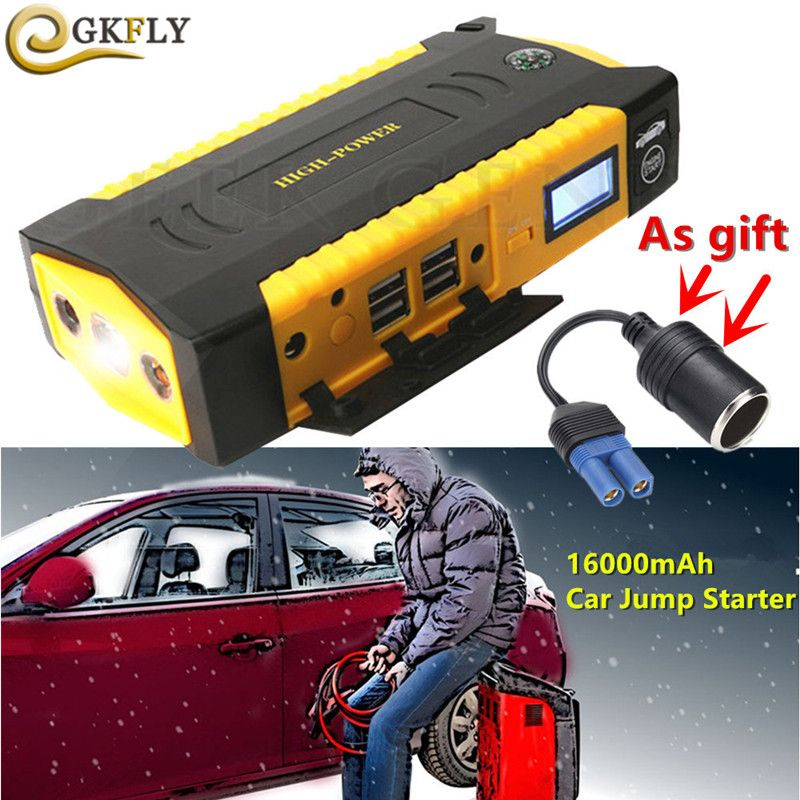 Portable 16000mAh Starting Device Emergency 12V 600A Petrol Diesel Car Starter Jumper Car Charger For Car Battery Booster Buster