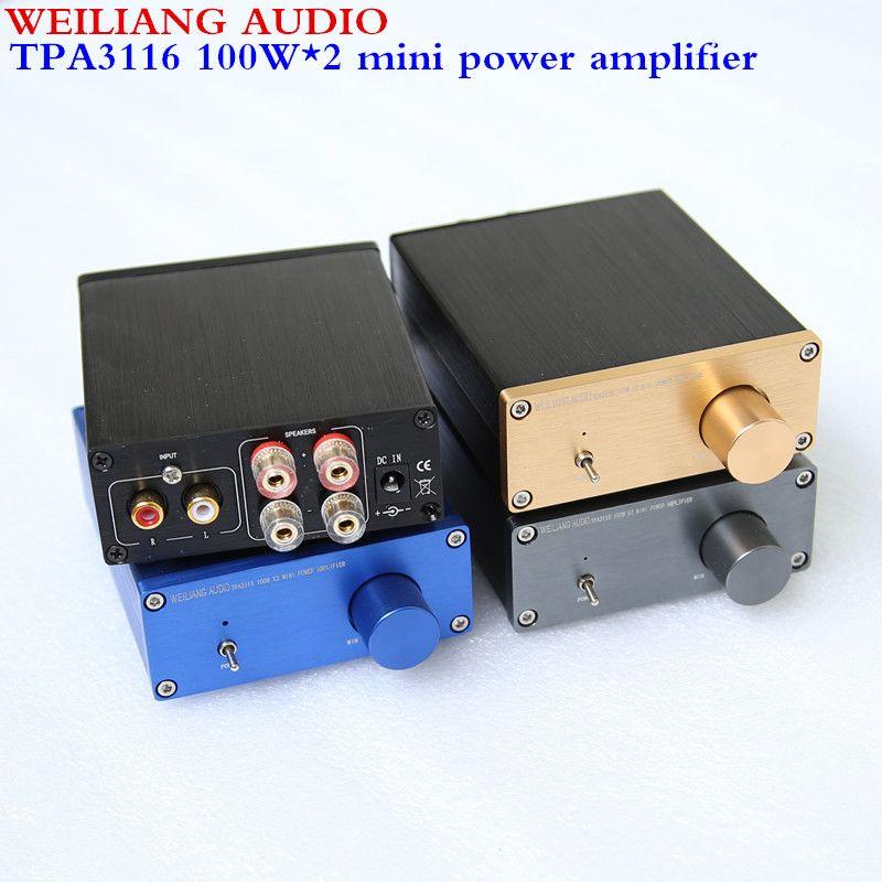 Breeze audio & Weiliang audio HiFi Class D Audio Digital Power Amplifier TPA3116 2.0 min amplifier <font><b>100W</b></font>*2 NE5532P*1/ TPA3116*2