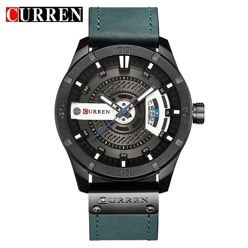 CURREN 8301 Top Brand Luxury watch men date display Leather  creative Quartz Wrist Watches relogio masculino