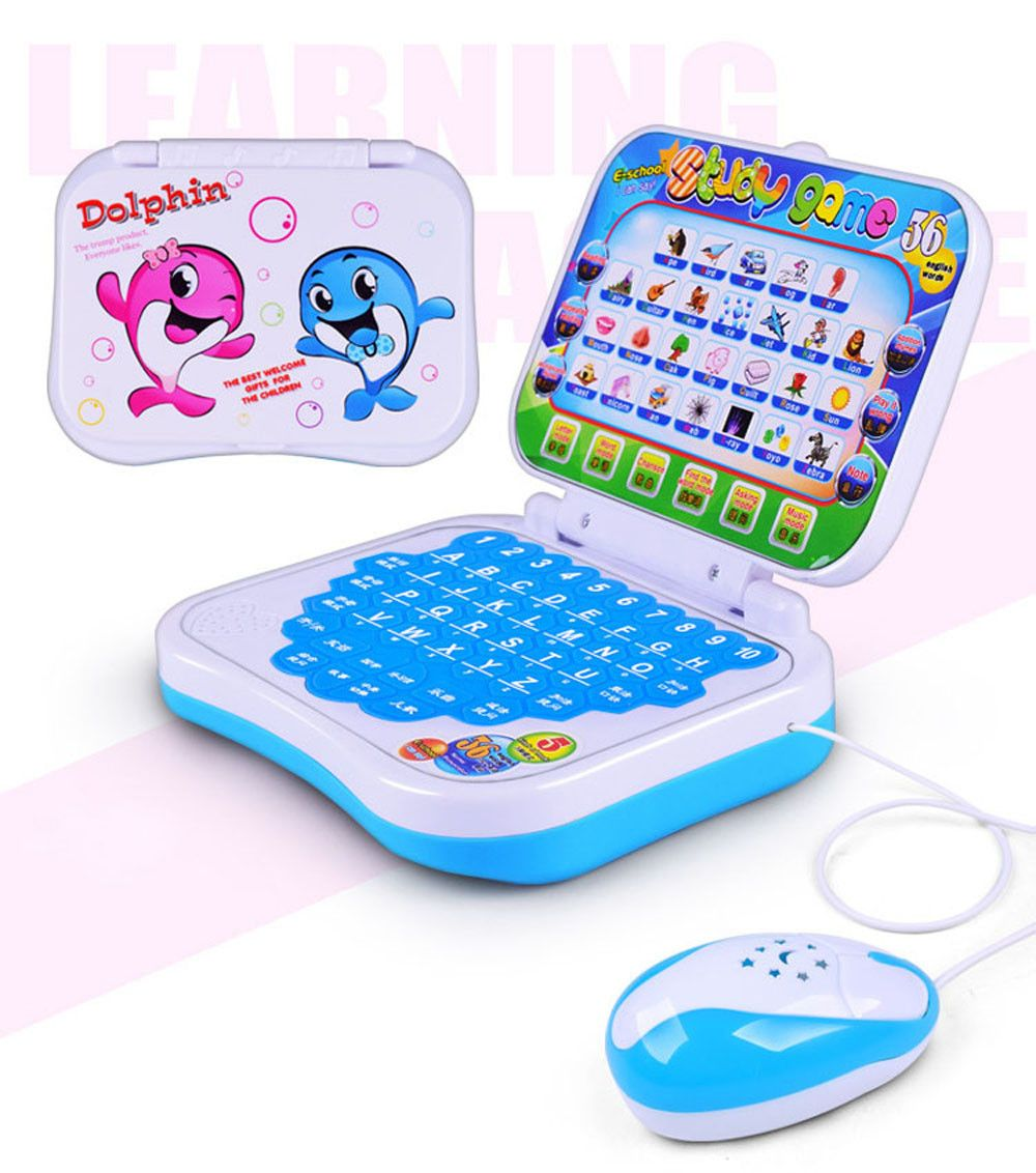 1:32 Notebook computador With Wired mouse Large Inertia Motorcycles Toy Car Children's Birthday Present Reading Machine