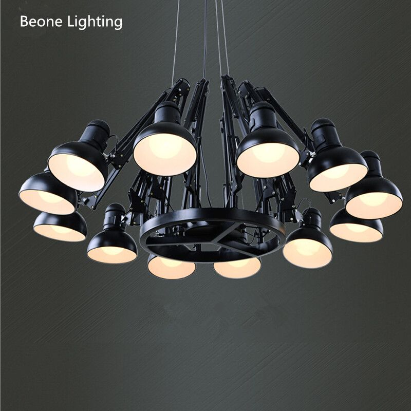 Replica Ron Gillad Dear Ingo Suspension Light Free Shipping E27 12 heads Modern Country living room Spider Pendant Lights lamp