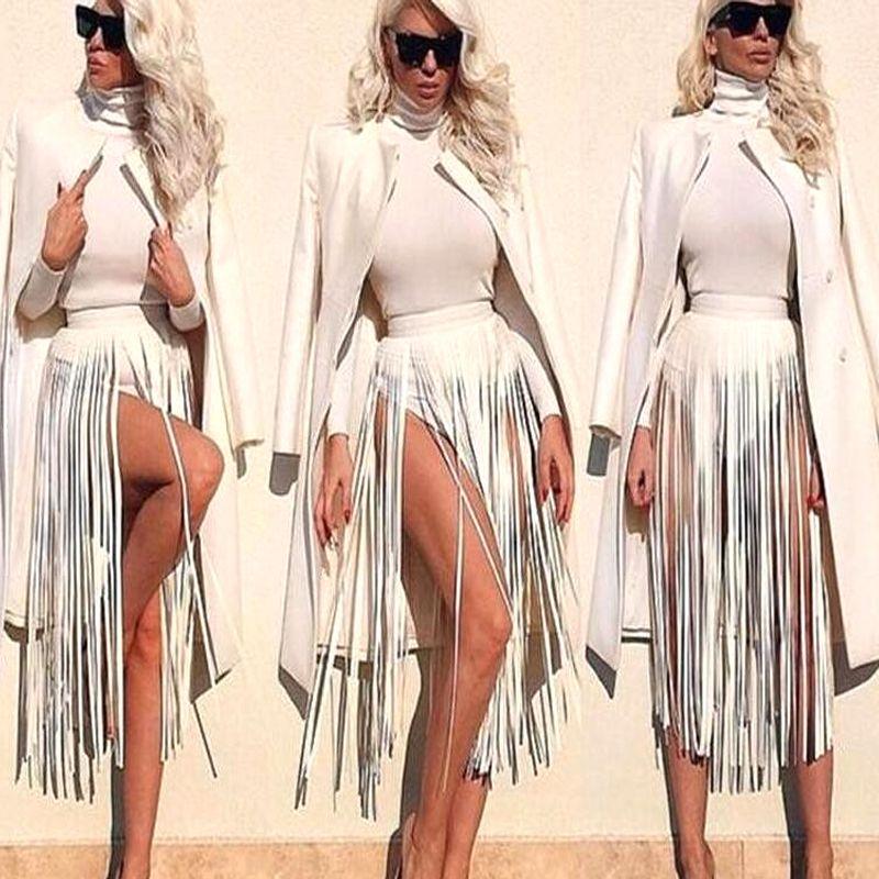 Nouvelle marque Hippie Boho frange gland en cuir dames ceintures tout correspondant cool taille haute mode longues larges ceintures pour les femmes