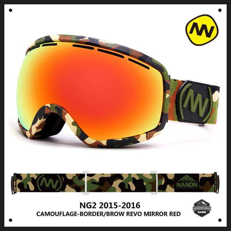 NANDN grand sphérique hommes femmes Snowboard Sports Ski lunettes Double lentille Anti-buée professionnel Ski lunettes unisexe neige lunettes NG2