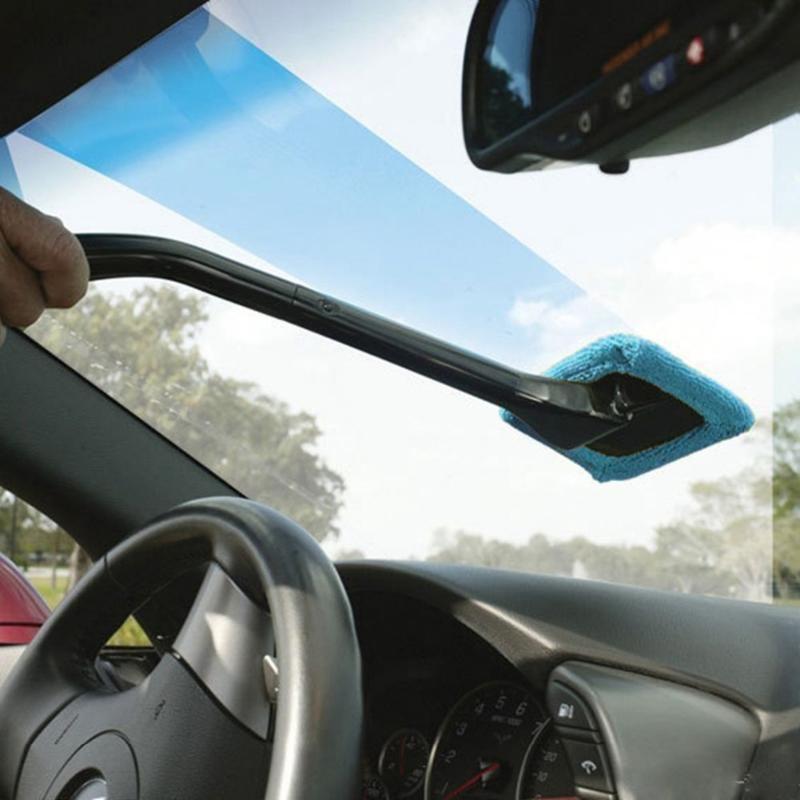Auto Fenster Reiniger Windschutzscheibe Windschutz Mikrofaser Auto Waschen Pinsel Staub Lange Griff Auto Reinigung Werkzeug Auto Pflege Glas Handtuch Heißer