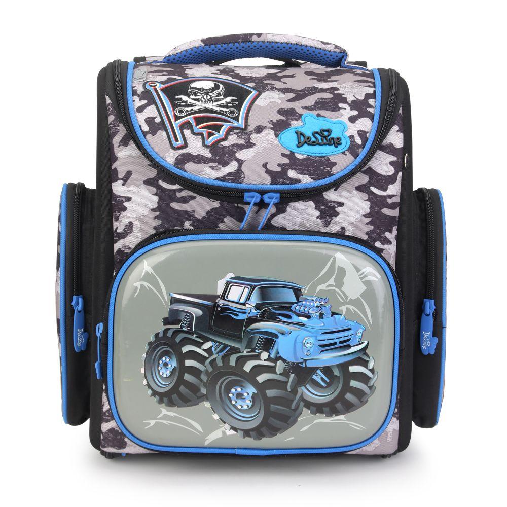 2017 Delune School Bags Children Backpacks Orthopedic Backpack School Backpacks Nylon Material Cartoon Pattern Backpack For Boy