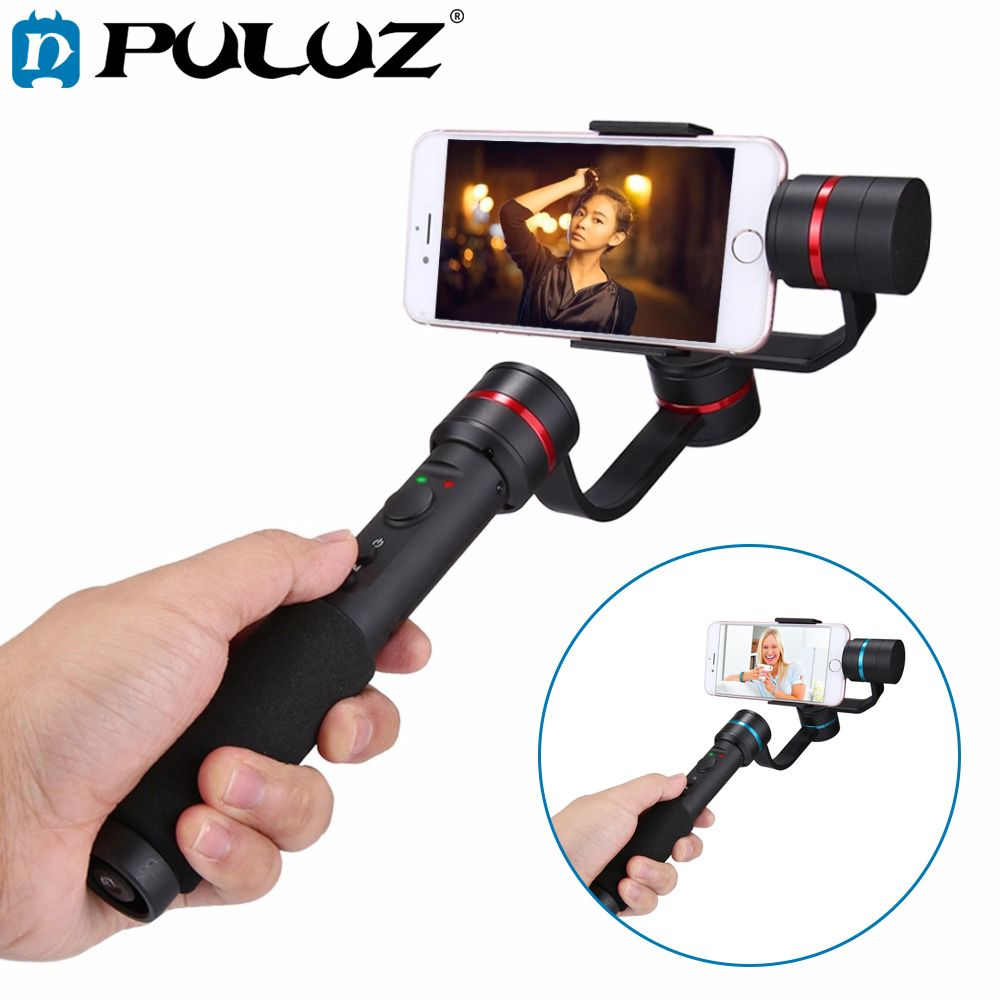 PULUZ G1 3-Axis Handheld Selfie Phone Gimbal Steadicam Stabilizer Clamp Mount for 4.7-5.5