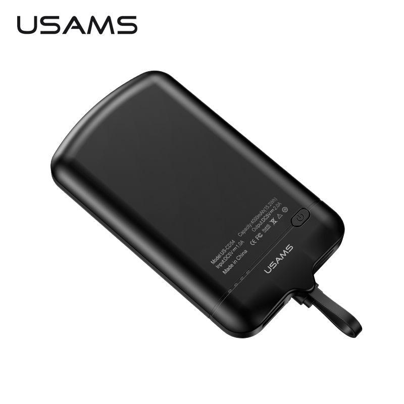Universal Power Bank, USAMS 4000 mah mini power Tragbare Externe Batterie Nano Adsorption Handy Ladegerät Bank Power