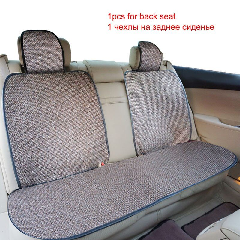 3Pc The back Car Seat Cover.Material Flax Fabrics.Colors Red,Gray,Blue,Purple,Brown.Universal car seat covers.for car lada prior