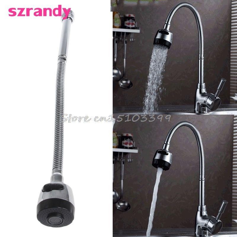 Küche Bar Wasserhahn Schlauch Doppel Loch Wasser Zink-legierung Ersatz Tap 48 cm G08 Drop ship