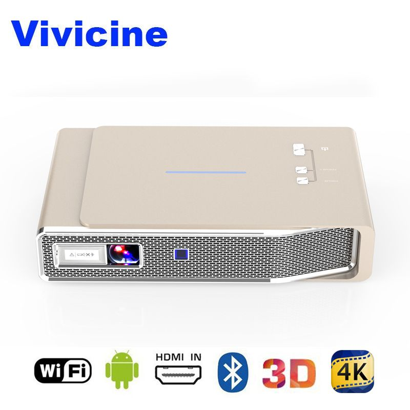 Vivicine Neueste 3D 1080 p Hause Projektor Android 4.4 Bluetooth Miracast Airplay Drahtlose HD Multimedia Video Proyector Beamer