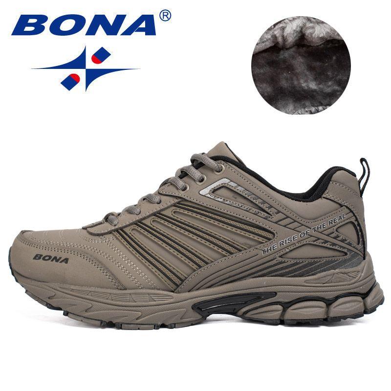 BONA Neue Ankunft Heiße Art Männer Laufschuhe Outdoor Wanderschuhe Joggingschuhe Komfortable Turnschuhe Schnüren Sportschuhe Für Männer