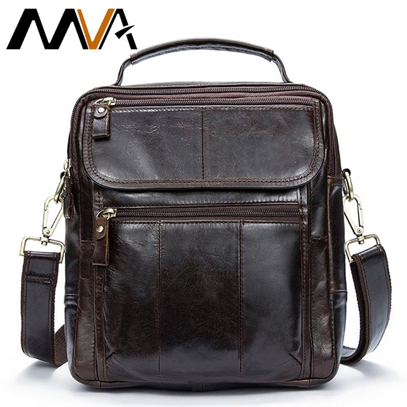 MVA Messenger Bag Men Shoulder Bag Male Genuine Leather Men's bags Man Small Flap Casual Crossbody Bags for men handbags 8870