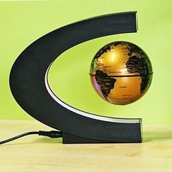 Magnetic Globe Levitation Floating LED Floating Tellurion C Shape Anti Gravity Globe World Map for office Home Decor child gifts