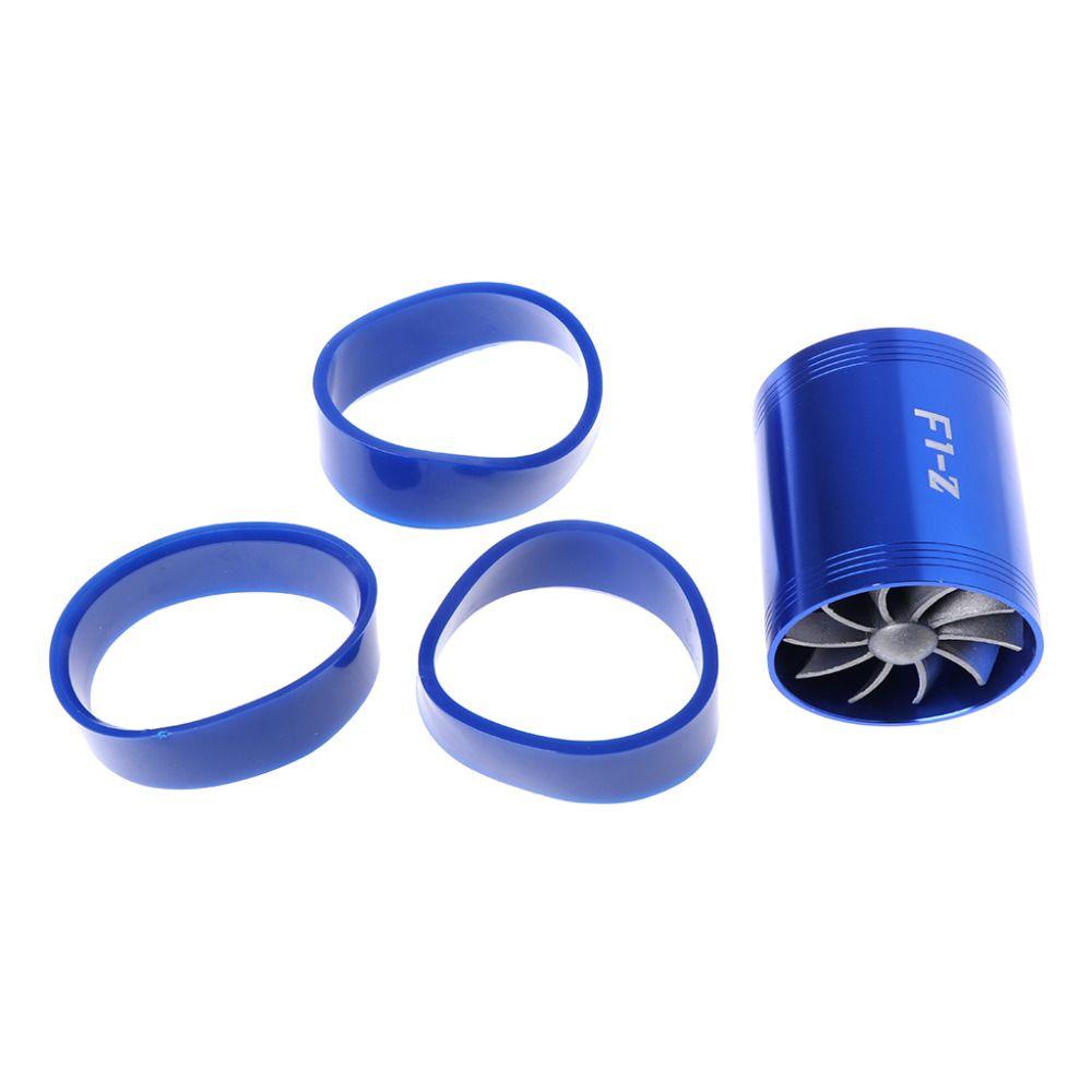 Fan Air Intake Supercharger Turbo Fuel Gas Saver Fan Blue DOUBLE F1-Z#T518#
