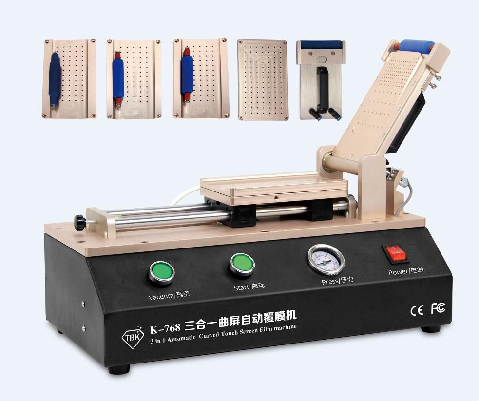 Universal LCD OCA Film Laminating Machine For iPhone Samsung Screen Repair with 4 moulds universal S6 S6+ S7 Edge