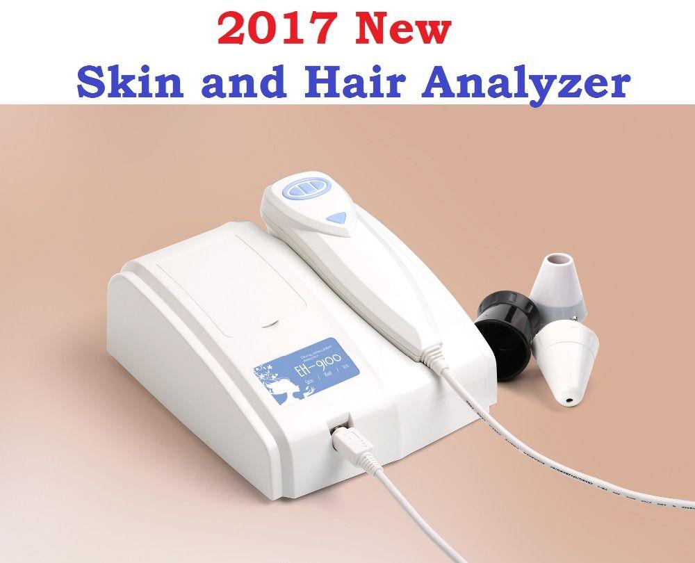 2017 New 8.0 MP High Resolution Digital CCD USB Multifunction UV Skin and Hair Analyzer Skin Camera Diagnosis  Skinscope DHLfree