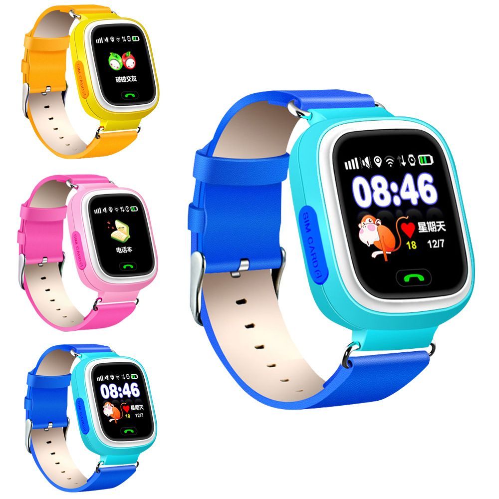 Q90 Bluetooth Smart Watch with box Children for Android Phone Support SIM Card SOS GPS WIFI Wristwatch for boys girls kids