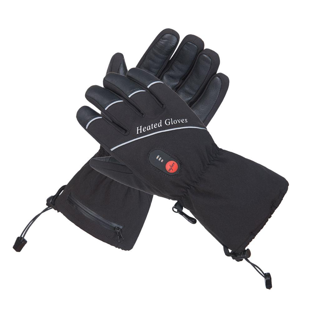 Neue Heizung Handschuhe Mit Batterie Winter Warm Thermische Beheizte Handschuhe Männer Frauen Skifahren Camping Reiten Motorrad Handschuhe Größe S-XXL