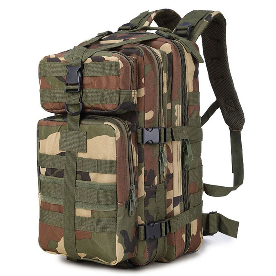 35L Men Women Outdoor Military Army Tactical Backpack Trekking Sport Travel Rucksacks Camping Hiking Fishing <font><b>Bags</b></font>