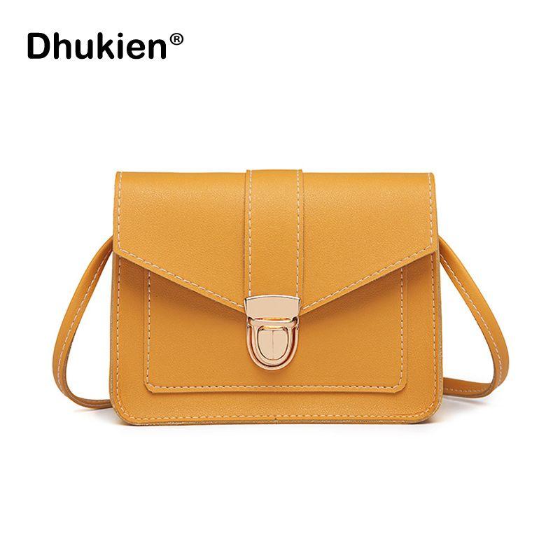 Fashion Small Crossbody Bags for Women 2019 Mini PU Leather Shoulder Messenger Bag for Girl Yellow Bolsas Ladies Phone Purse