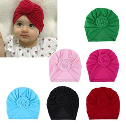 Bayi Baru Lahir Anak Bayi Topi Anak Headwear Turban Caps Indah Kerut padat Topi topi Balita Aksesoris dengan bunga