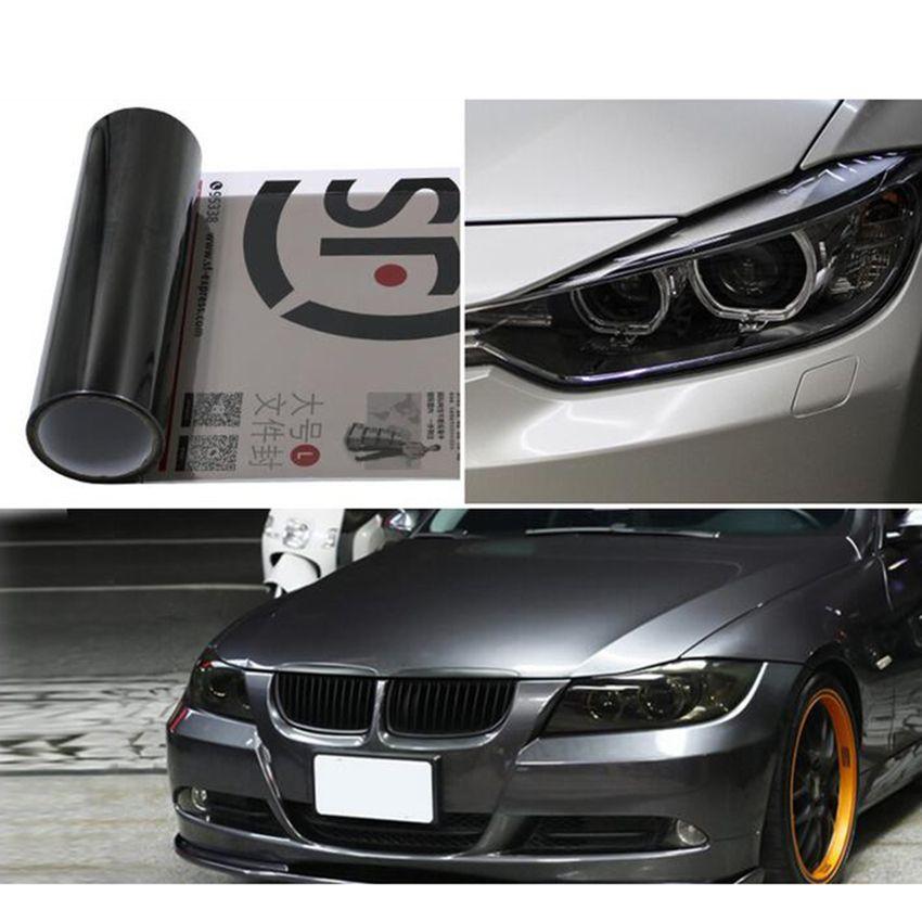 30 см x 100 см Глянцевая 12 цветов черный темный оттенок фар Фонарь туман обертывание Простыни Наклейки Тюнинг автомобилей Стикеры