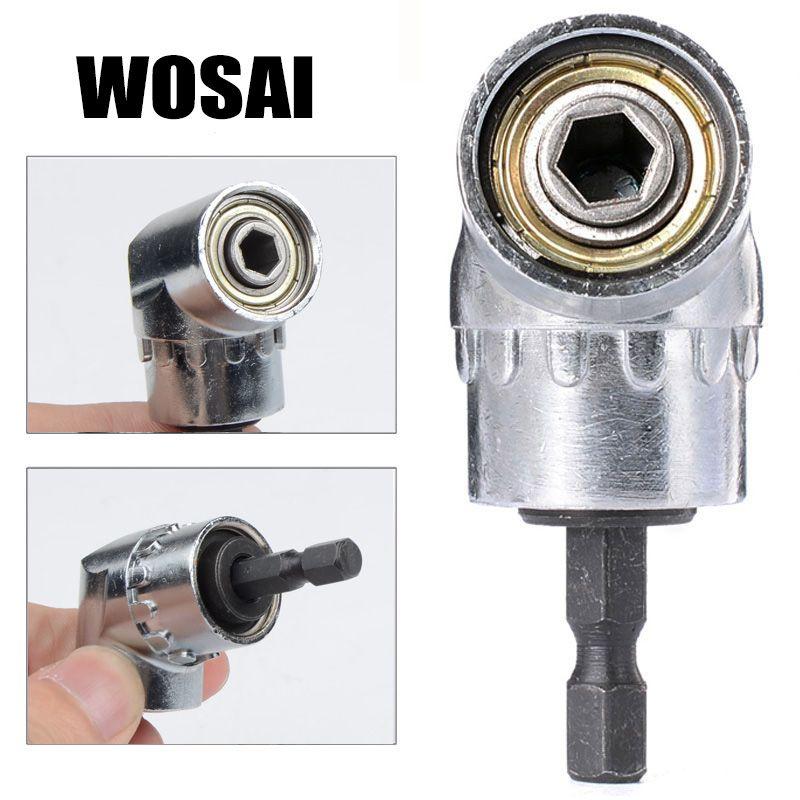 WOSAI 105 Grad 1/4 Elektrische Hex Bohrer Einstellbare Hex Bit Winkel Fahrer Bohrmaschine Sockel Halter Adapter Werkzeuge