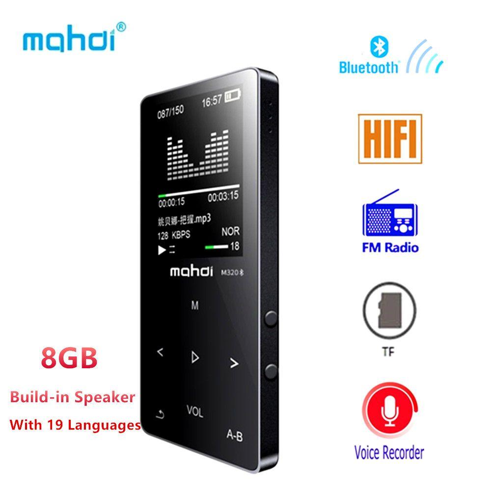 Bluetooth MP4 Player 8 gb FM Radio Digital MP3 MP4 Lautsprecher Touch Video Mini Verlustfreie Diktiergerät Musik-player Multi sprache