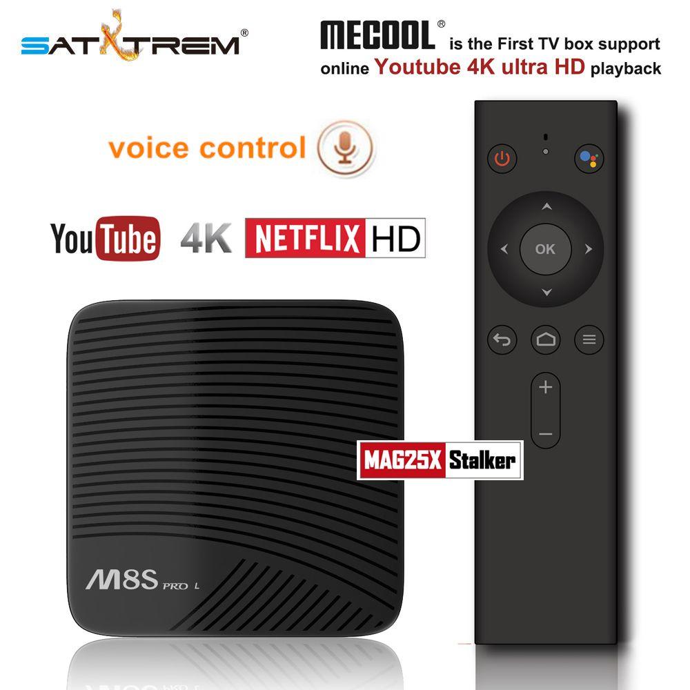 Mecool M8S PRO L Voice Control Smart TV Box Android 7.1 Amlogic S912 2GB/3GB DDR3 16GB/32GB Octa Core Bluetooth 4K Set-top Box